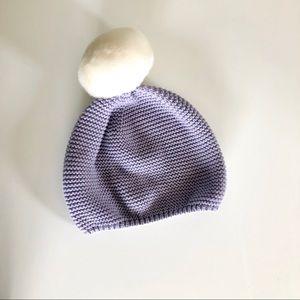 Gap pom knit beanie - lavender